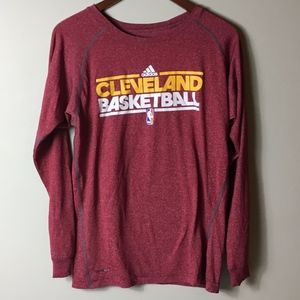 Adidas Men's XL Long Sleeve Cleveland B-Ball Shirt